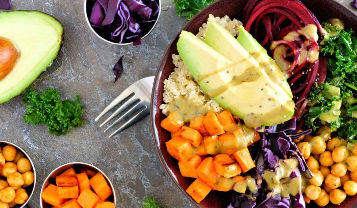 balanced diet and healthy food