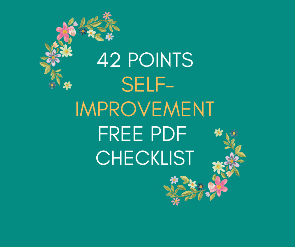 42 points self improvement free PDF Checklist Revamp Mind